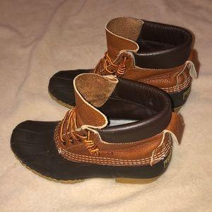 brown LL Bean boots